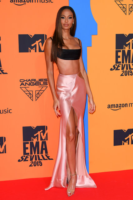 Supermodel Joan Smalls attending the MTV Europe Music Awards 2019, held at the FIBES Conference & Exhibition Centre of Seville, Spain on November 03, 2019. (Photo by David Fisher/Rex Features/Shutterstock)