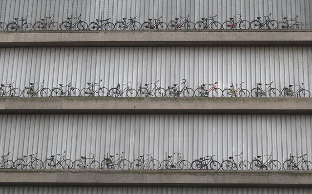 Bicycles are seen on a building at the start of the second stage of the 102nd Tour de France cycling race from Utrecht to Zeeland, July 5, 2015. (Photo by Stefano Rellandini/Reuters)