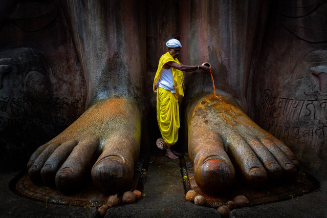 Shortlisted: Shravanabelagola Temple, India by Vinod Kumar Kulkarni. (Photo by Vinod Kumar Kulkarni/Historic Photographer of the Year Awards 2019/The Guardian)
