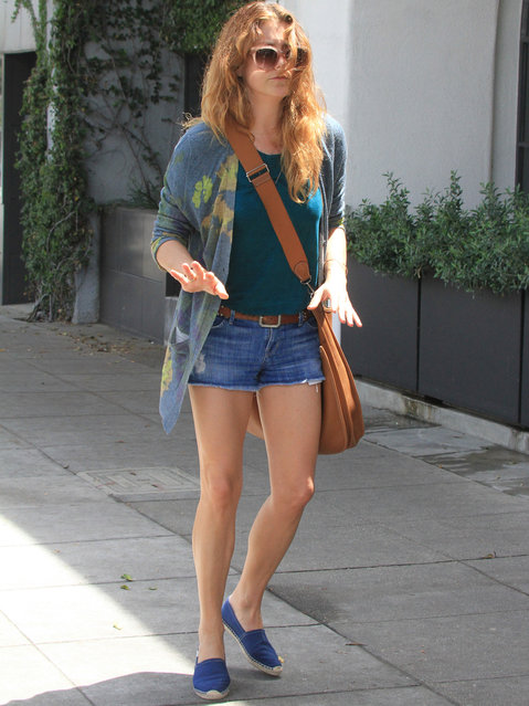 Kate Walsh is seen in Los Angeles, CA., on April 20,  2014. (Photo by Bauer-Griffin LLC)