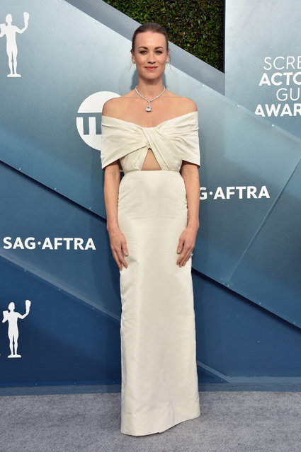 Yvonne Strahovski attends the 26th Annual Screen ActorsGuild Awards at The Shrine Auditorium on January 19, 2020 in Los Angeles, California. (Photo by Gregg DeGuire/Getty Images for Turner)