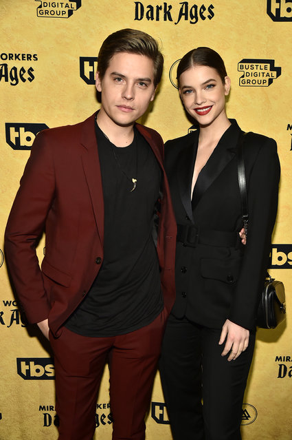 """Dylan Sprouse and Barbara Palvin attend TBS's """"Miracle Workers: Dark Ages"""" Premiere Celebration on January 22, 2020 in New York City. (Photo by Theo Wargo/Getty Images)"""