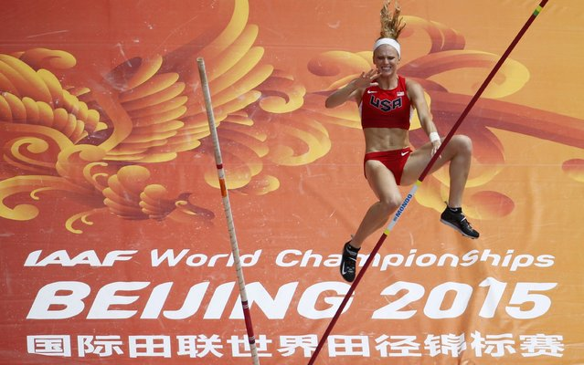 Sandi Morris of the U.S. competes in the women's pole vault qualifying round during the 15th IAAF World Championships at the National Stadium in Beijing, China, August 24, 2015. (Photo by Fabrizio Bensch/Reuters)