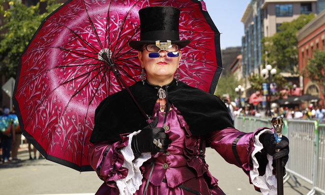 Patricia Osmond of El Paso dressed in steampunk during opening day of the annual Comic-Con International in San Diego, California, United States July 21, 2016. (Photo by Rex Features/Shutterstock)