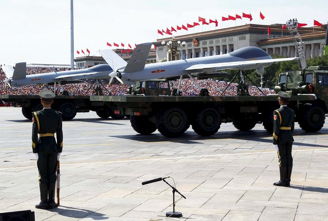 Chinese unmanned aerial vehicles are presented during the military parade marking the 70th anniversary of the end of World War Two, in Beijing, China, September 3, 2015. (Photo by Rolex Dela Pena/Reuters)
