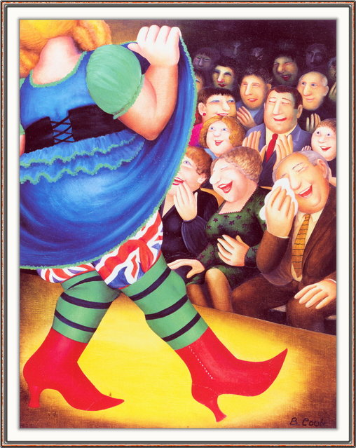 Pantomime Dance. Artwork by Beryl Cook