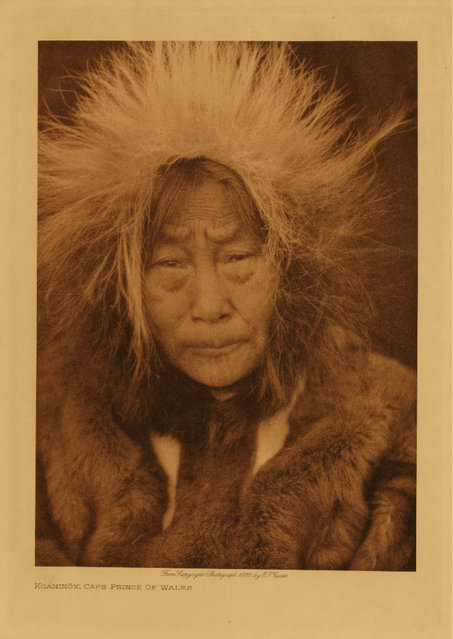This portrait was taken in Cape Prince of Wales, Alaska, the westernmost point of the continent, in 1928. (Photo by Edward S. Curtis)