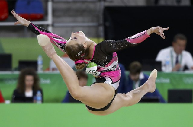 2016 Rio Olympics, Artistic Gymnastics, Final, Women's Individual All-Around Final, Rio Olympic Arena, Rio de Janeiro, Brazil on August 11, 2016. Carlotta Ferlito (ITA) of Italy competes on the floor exercise. (Photo by Mike Blake/Reuters)