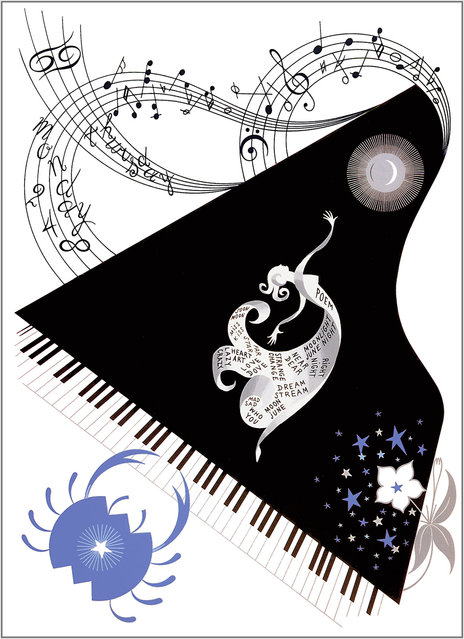 Romain de Tirtoff (Erte) – The Zodiac: Cancer
