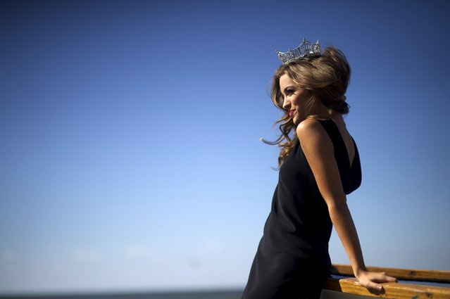 Miss America 2016 Betty Cantrell poses for photographs by the ocean after winning the 95th Miss America Pageant last night at Boardwalk Hall, in Atlantic City, New Jersey, September 14, 2015. (Photo by Mark Makela/Reuters)