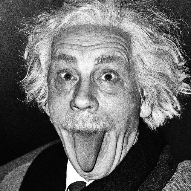 John Malkovich is seen as Albert Einstein in a re-creation of the 1951 portrait taken by Arthur Sasse. After Sandro decided to re-create other well-known portraits, he approached John Malkovich with the idea for the project. Sandro chose 35 portraits to re-create from 28 different photographers. (Photo by Sandro Miller/Catherine Edelman Gallery)
