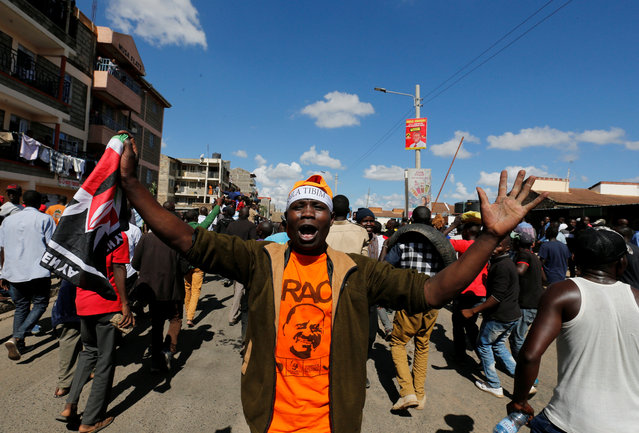 Supporters of Kenyan opposition National Super Alliance (NASA) gather in Nairobi, Kenya November 28, 2017. (Photo by Thomas Mukoya/Reuters)