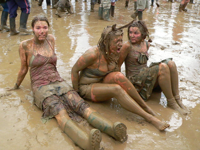 """Girls covered in mud"". (Photo by Carina)"