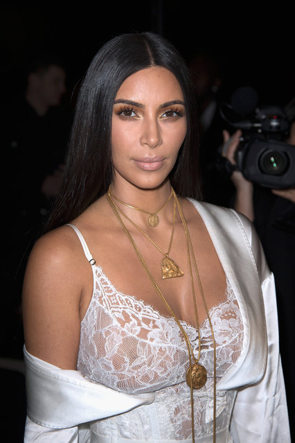Kim Kardashian attends the Givenchy show as part of the Paris Fashion Week Womenswear Spring/Summer 2017 on October 2, 2016 in Paris, France. (Photo by Dominique Charriau/WireImage)