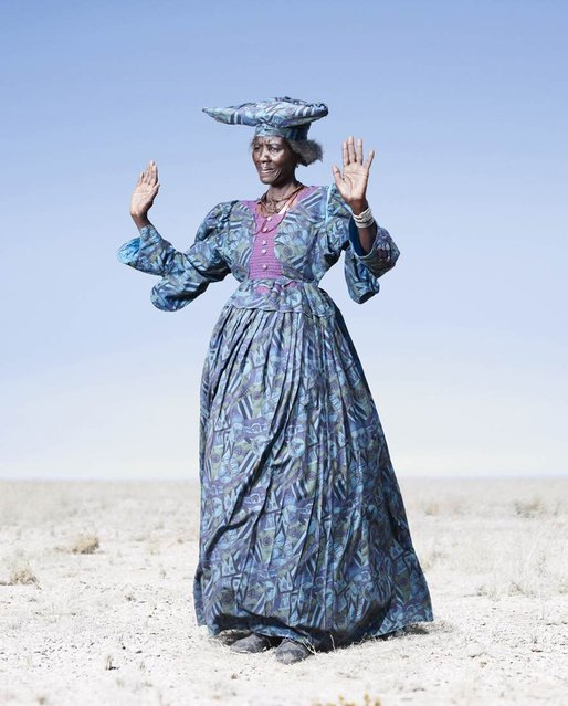 Herero Woman in Blue Dress, 2012. (Photo by Jim Naughten, courtesy of Klompching Gallery, New York)