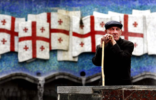 A Georgian WW II veteran attends the Victory Day celebration in Tbilisi. (Photo by Shakh  Aivazov/Associated Press)