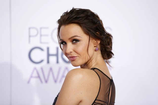 Actress Camilla Luddington arrives at the 2015 People's Choice Awards in Los Angeles, California January 7, 2015. (Photo by Danny Moloshok/Reuters)