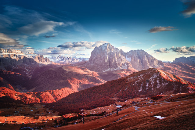 Lights and Shadows in the Dolomites, in the landscape infrared category. (Photo by Tomasz Grzyb/Kolari Vision)