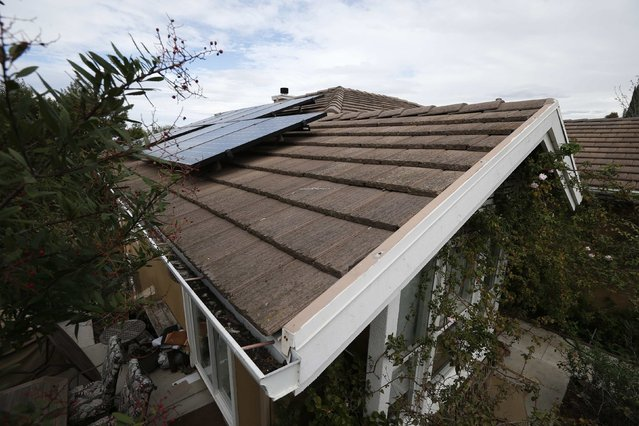 Solar panels are seen on the roof of a home in Irvine, California January 26, 2015. (Photo by Lucy Nicholson/Reuters)