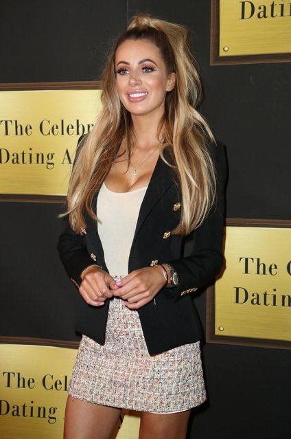 """Olivia Attwood seen at """"Celebs Go Dating"""" TV show photocall at Cafe De Paris on July 24, 2018 in London, England. (Photo by PA Wire)"""