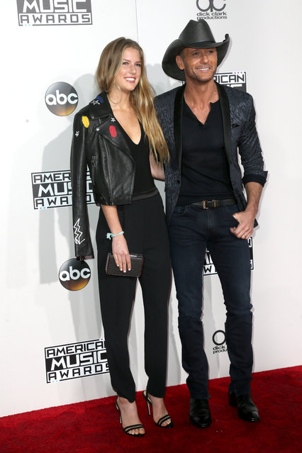 Maggie Elizabeth McGraw (L) and musician Tim McGraw attend the 2016 American Music Awards at Microsoft Theater on November 20, 2016 in Los Angeles, California. (Photo by Frederick M. Brown/Getty Images)