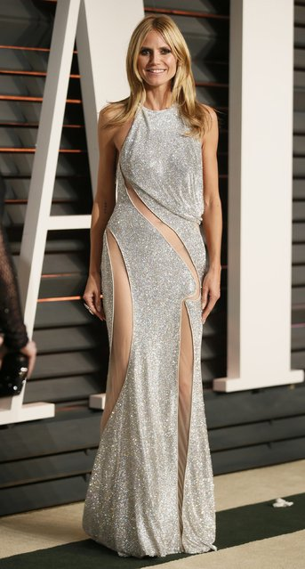 Model and television personality Heidi Klum arrives at the 2015 Vanity Fair Oscar Party in Beverly Hills, California February 22, 2015. (Photo by Danny Moloshok/Reuters)
