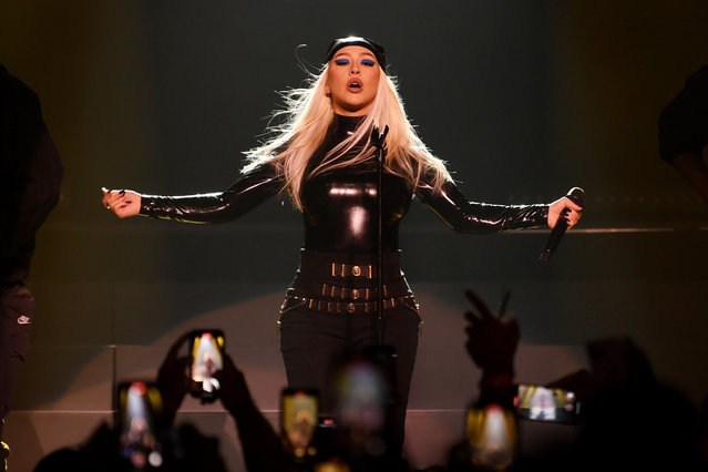 Christina Aguilera performs during the Unstoppable Weekend grand opening celebration at The Theater at Virgin Hotels Las Vegas on June 10, 2021 in Las Vegas, Nevada. (Photo by Denise Truscello/Getty Images for ABA)