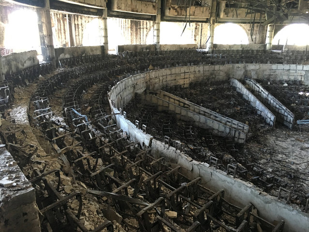 GABON: The charred interior of the parliament is seen after it was burned in post-election protests in Libreville, Gabon, September 20, 2016. (Photo by Edward McAllister/Reuters)