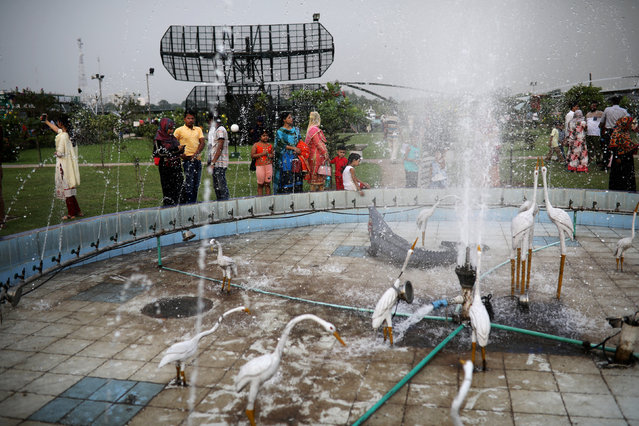 People visit the Bangladesh Air Force Museum park in the afternoon in Dhaka, Bangladesh, September 28, 2018. (Photo by Mohammad Ponir Hossain/Reuters)