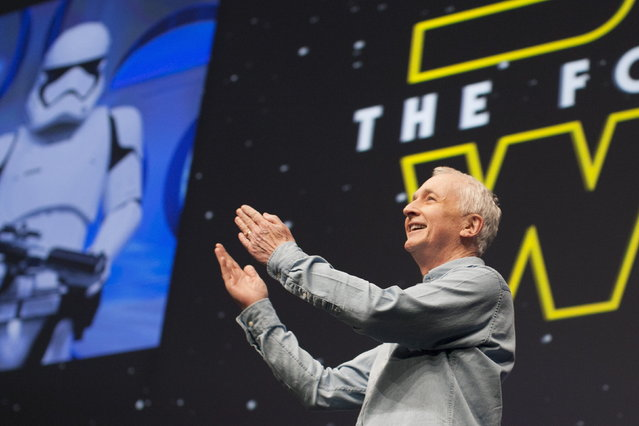 Original Star Wars cast member Daniels appears at the kick-off event of the Star Wars Celebration convention in Anaheim, California, April 16, 2015. (Photo by David McNew/Reuters)