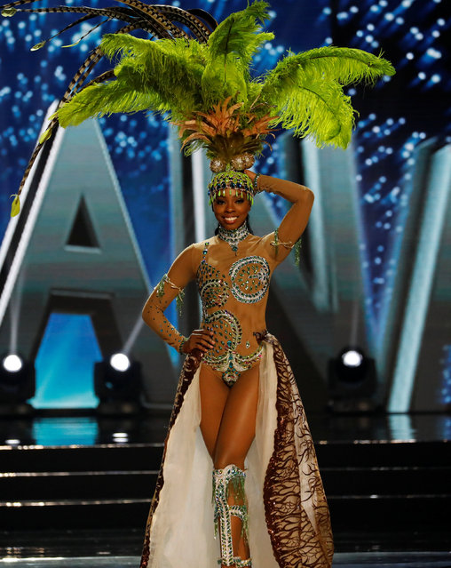 Miss Universe candidate from Guyana Soyini Fraser competes during a national costume preliminary competition in Pasay, Metro Manila, Philippines January 26, 2017. (Photo by Erik De Castro/Reuters)