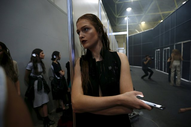 Models wait backstage during the Mercedes-Benz Fashion Days in Tbilisi, Georgia, May 1, 2015. (Photo by David Mdzinarishvili/Reuters)
