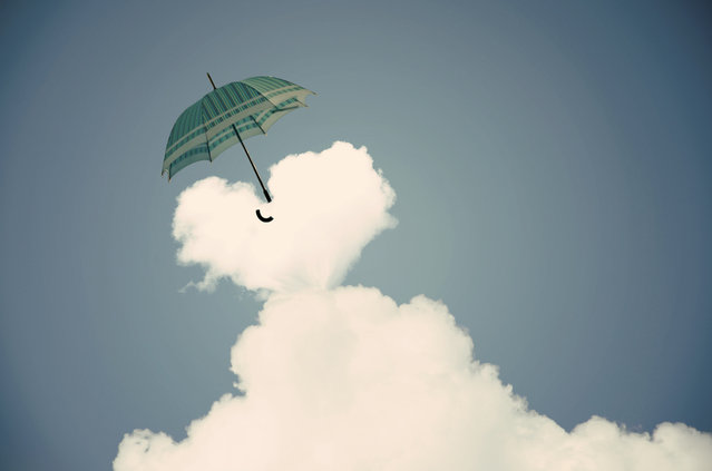 Flying With Umbrella By Adrian Limani