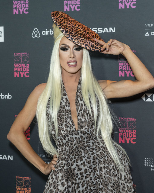 Drag Queen Alaska attends the WorldPride Opening Ceremony Benefit Concert at the Barclays Center in New York, United States on June 26, 2019. (Photo by Lev Radin/Pacific Press/LightRocket via Getty Images)