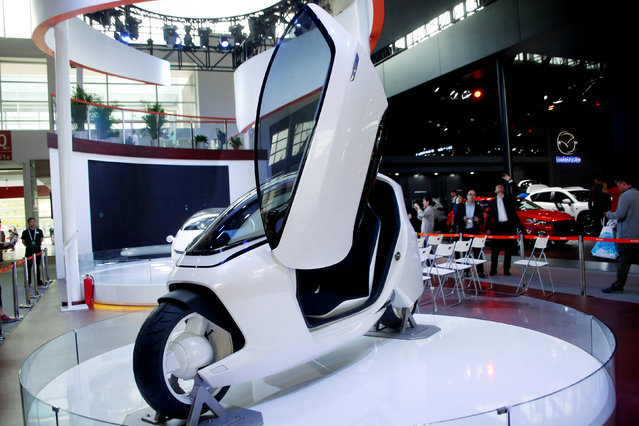 Luxgen Motor's single seater concept vehicle is pictured during the Auto China 2016 show in Beijing, China April 26, 2016. (Photo by Kim Kyung-Hoon/Reuters)