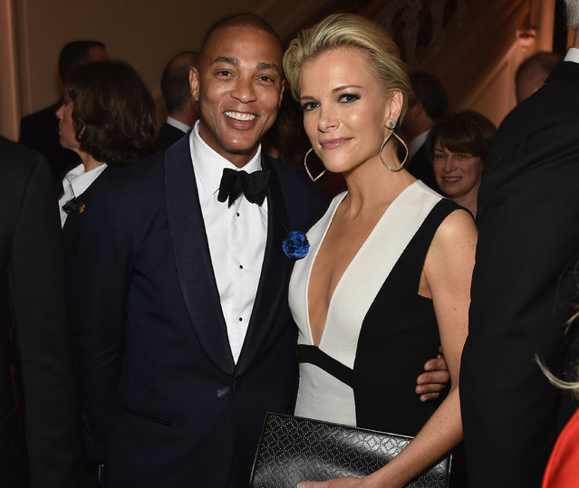 Anchors Don Lemon and Megyn Kelly attend the Bloomberg & Vanity Fair cocktail reception following the 2015 WHCA Dinner at the residence of the French Ambassador on April 30, 2016 in Washington, DC. (Photo by Dimitrios Kambouris/VF16/WireImage)