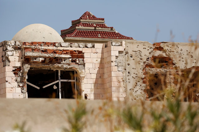 A house which was damaged during fighting with government forces stands in Ben Guerdane, near the Libyan border, Tunisia April 10, 2016. (Photo by Zohra Bensemra/Reuters)
