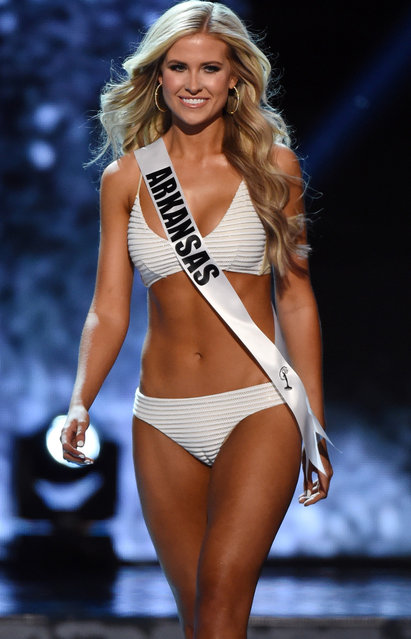 Miss Arkansas USA Abby Floyd competes in the swimsuit competition during the 2016 Miss USA pageant preliminary competition at T-Mobile Arena on June 1, 2016 in Las Vegas, Nevada. (Photo by Ethan Miller/Getty Images)