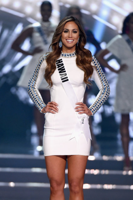 Miss Hawaii USA 2016 Chelsea Hardin is named a top 15 finalist during the 2016 Miss USA pageant at T-Mobile Arena on June 5, 2016 in Las Vegas, Nevada. (Photo by Ethan Miller/Getty Images)