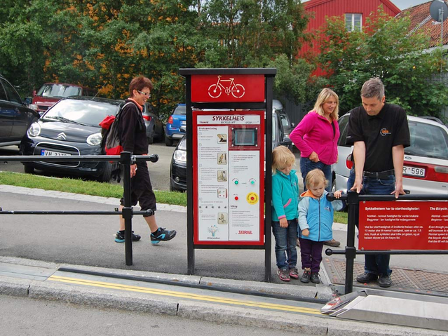 Bike Elevator In Trondheim, Norway