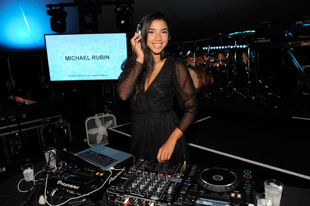 "Hannah Bronfman at VH1 Save The Music Foundation's ""Hamptons Live"" benefit hosted by Billy and Julie Macklowe at a private estate in Sagaponack, NY on August 8, 2015. (Photo by Matthew Eisman/Getty Images for Vh1 Save The Music)"