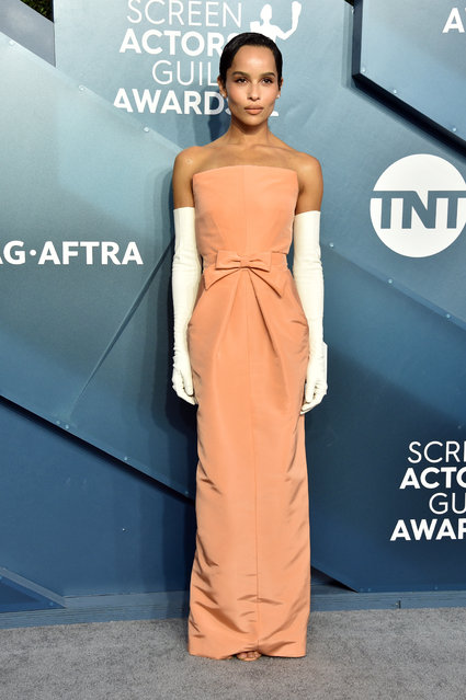 Zoe Kravitz attends the 26th Annual Screen ActorsGuild Awards at The Shrine Auditorium on January 19, 2020 in Los Angeles, California. (Photo by Gregg DeGuire/Getty Images for Turner)