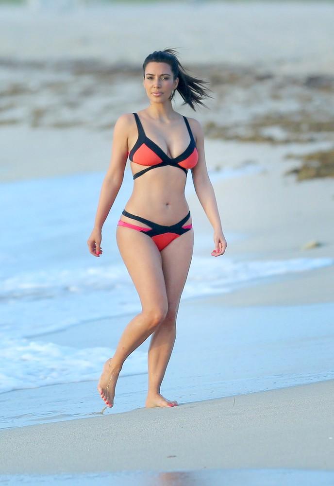 Kim Kardashian Wears Bondage-Inspired Bikini