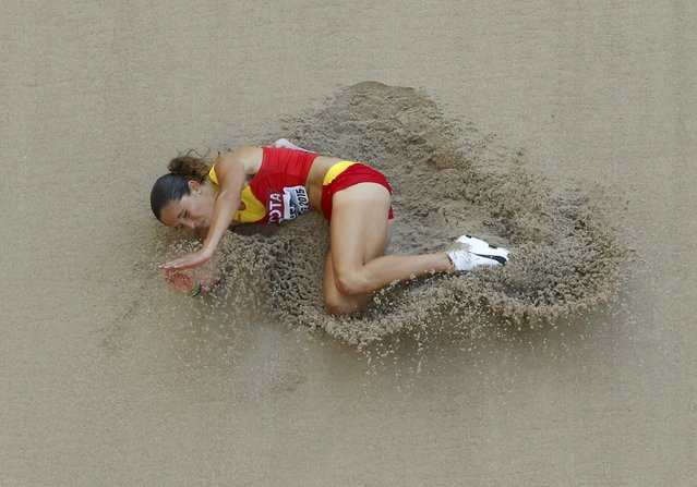 Maria del Mar Jover of Spain competes in the women's long jump qualifying round during the 15th IAAF World Championships at the National Stadium in Beijing, China, August 27, 2015. (Photo by Kim Kyung-Hoon/Reuters)
