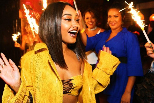 Leigh-Anne Pinnock arriving at Gilgamesh Camden on September 30, 2017 in London, England. (Photo by Flynet Pictures)
