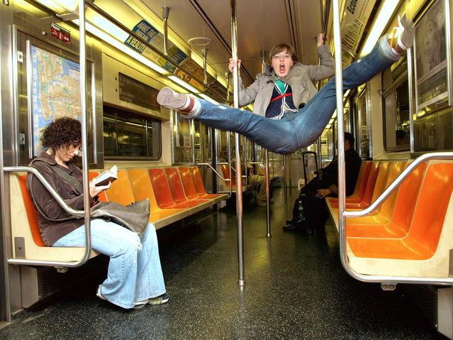 """Jumpology"". ""Jump, jive, and wail"". New York, USA. (Photo by Mark Davis)"