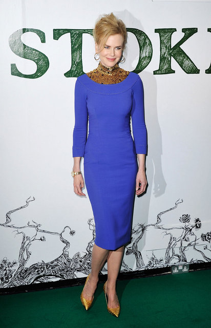 Nicole Kidman attends a special screening of Stoker at Curzon Soho on February 17, 2013 in London, England. (Photo by Mark Cuthbert/UK Press)