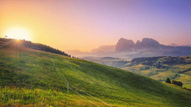 """Morning Sun at Alpe di Siusi"". (Matthias Haker)"