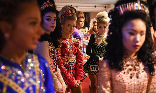 Competitors take part in day three of the World Irish Dancing Championships on March 26, 2018 in Glasgow, Scotland. The World Irish Dancing Championships are taking place in Glasgow this week at the Royal Concert Hall, with more than 14,500 dancers and supporters expected to travel to the championships which has run for more than forty years. (Photo by Jeff J Mitchell/Getty Images)
