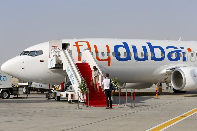 A Flydubai plane is pictured at the Dubai Airshow November 8, 2015. (Photo by Ahmed Jadallah/Reuters)